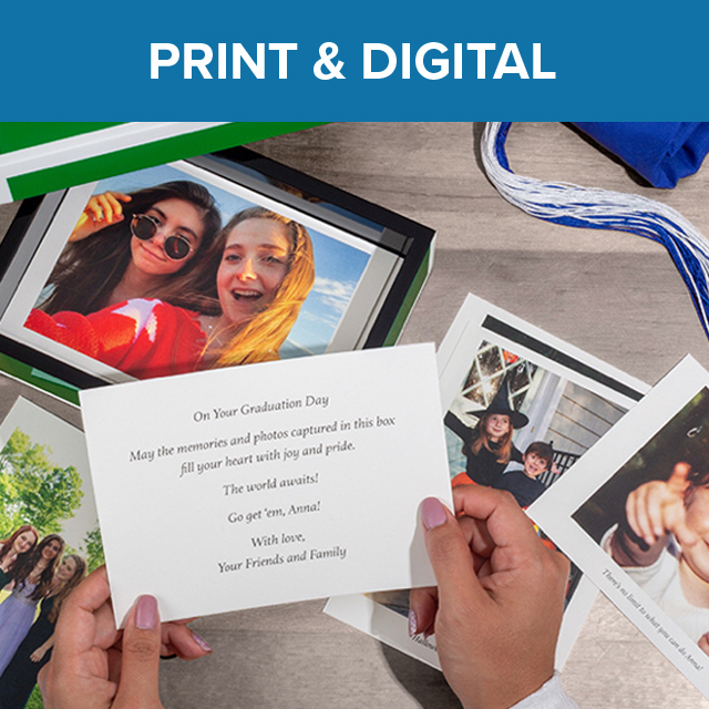 A collection of Boombox printed message and photo cards.