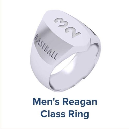 Men's Reagan, High School ; Class Ring