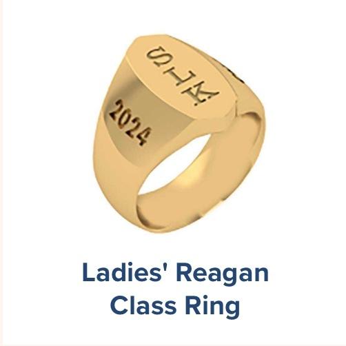 Ladies's Reagan, High School ; Class Ring