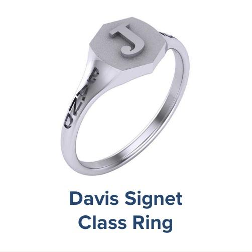 Davis Signet, High School ; Class Ring