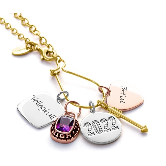 Liz James charm necklace