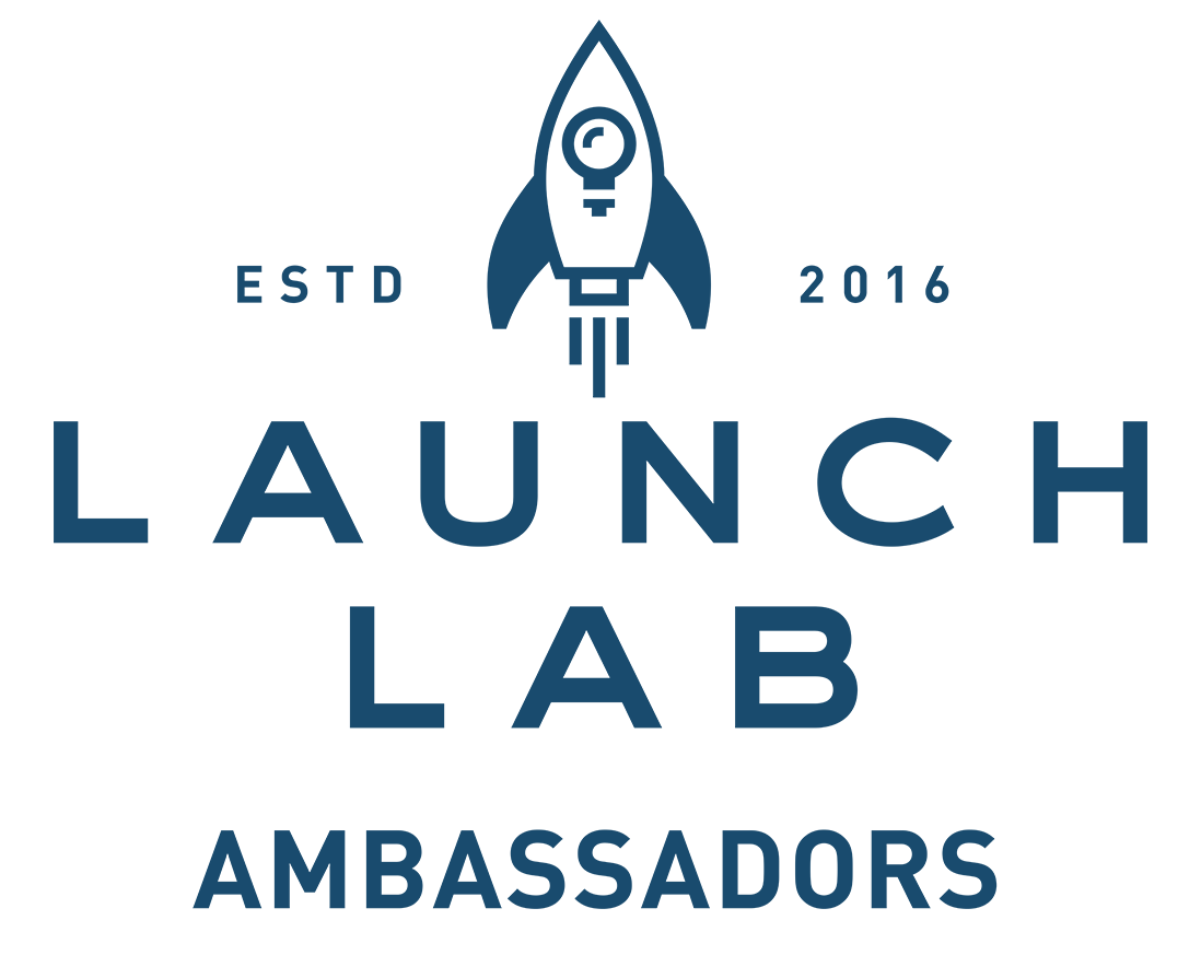 Logo with Launch Lab Ambassadors and a rocket ship.