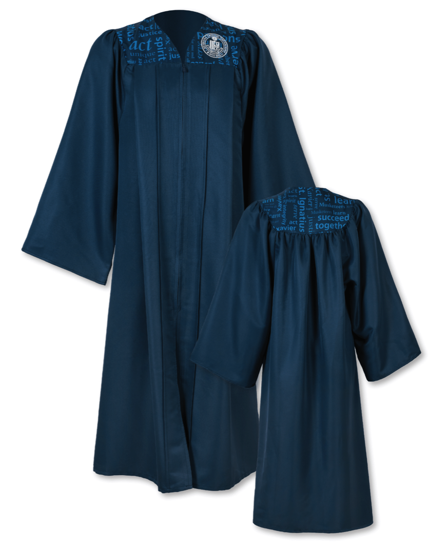 Revolutionary embosstech cap and gown technology