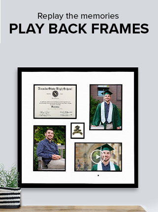 Video Playback frame hanging on the wall