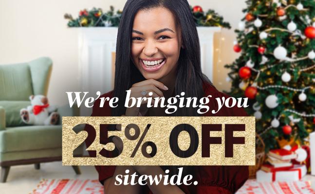 'twenty five percent off sitewide'