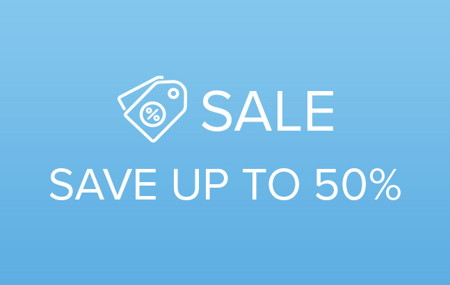 Sale ; Save up to 50%